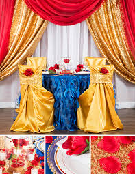 beauty and the beast wedding table decorations create your own beauty and the beast inspired event cv linens