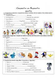 esl kids worksheets comparative and superlative