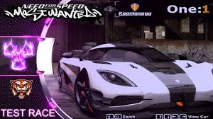koenigsegg one 1 logo koenigsegg one 1 nfs most wanted 2005 mod test race youtube