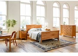 Modern Sleigh Bed Contemporary Sleigh Bed The Joinery Portland Oregon