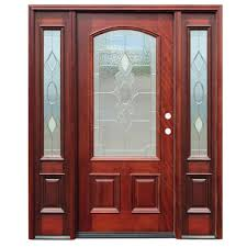 wood and glass front doors pacific entries 68 in x 80 in strathmore traditional 3 4 lite