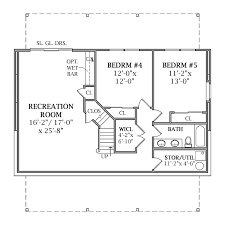 house plans daylight basement optional walk out basement plan image of lakeview house plan
