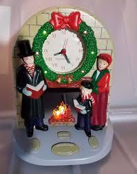 vintage soundesign musical christmas carols mantel clock lights