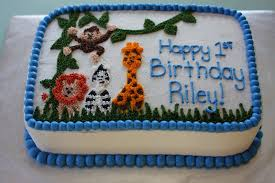 the buttercream bakery safari 1st birthday cake