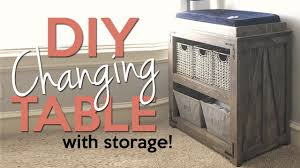 Changing Table Storage Diy Changing Table With Storage Shanty2chic
