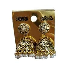 jhumka earrings traditional jhumka earrings at rs 52 pair traditional earrings