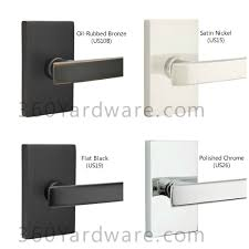 Oil Rubbed Bronze Bathroom Accessory Sets by Square Brass Modern Door Knob By Emtek 360 Yardware Your Source