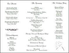 tri fold wedding program templates free printable wedding programs templates the template is