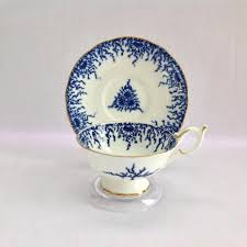 Home Decorators Collection Coupons Coalport 9248 Shells And Seaweed Dark Blue And White Teacup And