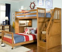 School House Stair Loft Bunk Bed Cherry Bed Frames NE Kids - Ne kids bunk beds