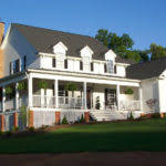 single story farmhouse wrap around porch square feet building