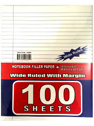 top quality customed size 300 sheets wide ruled filler paper buy