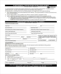 sample church registration forms 8 free documents in word pdf