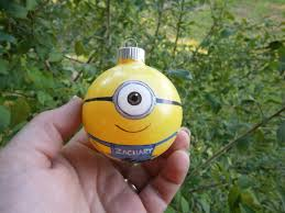 my little minion christmas ornament personalized for free