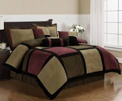 California King Black Comforter Amazon Com Chezmoi Collection Micro Suede Patchwork 7 Piece