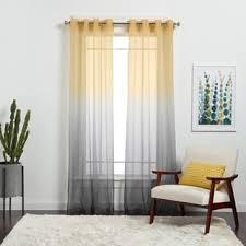 Ombre Sheer Curtains Achim Semi Sheer Ombre Curtain Panel Free Shipping On Orders