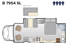 100 type b motorhome floor plans bunk beds class b