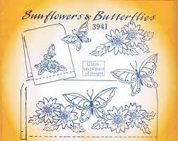 sunflower butterfly etsy