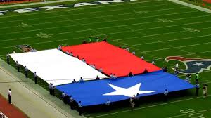 Texas Vs Chile Flag Texas Flag And Texas State Song Before The Houston Texans Game