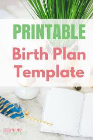 birth plans u0026 birth plan templates to download u0026 print