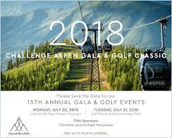Challenge Std 2018 Challenge Aspen Gala Golf Classic Challenge Aspen