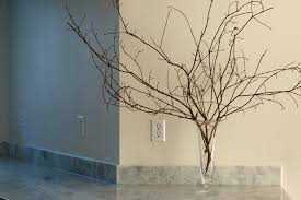 minimalist tree branches decoration in glass vase design ideas