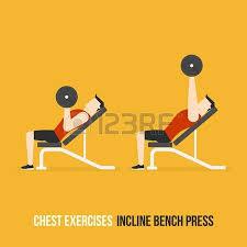 Flat Bench Press Dumbbell Chest Exercises Incline Bench Press Flat Design Bodybuilder