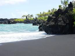 black sand beach hawaii black sand beach in hawaii pics