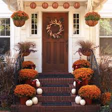 Fall Decorating Ideas by Pretty Front Entry Decorating Ideas For Fall Decoration Porch