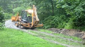 case 580 super n digging in the rain youtube