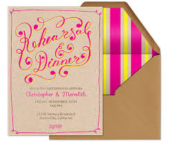 dinner invitation wording rehearsal dinner party guide evite