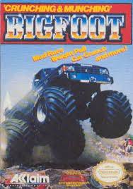 bigfoot monster truck game bigfoot label or box art nintendo games gamer snes original