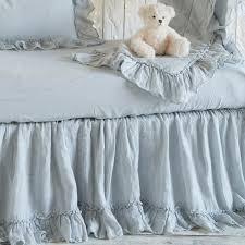 bella notte crib skirt whisper linen