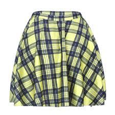 plaids en laine achetez en gros jaune plaid jupe en ligne à des grossistes jaune