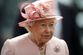 queen elizabeth ii looks radiant in peach coat and matching hat at