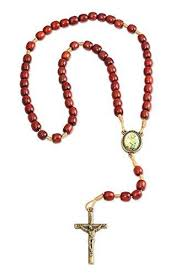 catholic rosary necklace st joseph cherry wood thread catholic rosary necklace made