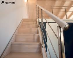 Solid Banister Flo 135 Staircase With Double Side Panel Structure In Solid