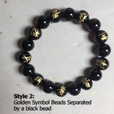 mens bracelet black beads images Ninja 9 hand seals black onyx mens bracelet japanese ninja kanji jpg