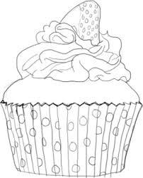 strawberry cupcake illustration michelle dinan blog