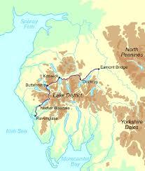 cumberland lake map cumberland way walking holidays and hiking tours in