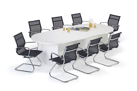 Modular Boardroom Tables White Executive Modular Boardroom Table And Mesh Cantilever Bundle