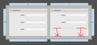 javafx grid layout exle how to get same vertical size of titledpanes in a gridpane javafx