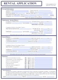 simple printable job application template tenant application form njrentalapp free new mexico rental