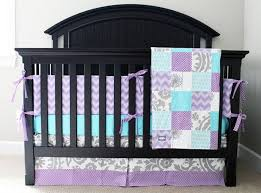 grey and purple crib bedding pictures reference