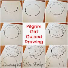 pilgrim boy book a step by step visual guide of how to draw a pilgrim boy and girl