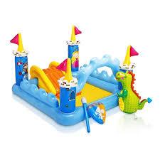 Backyard Water Slide Inflatable by Intex Kids Inflatable Backyard Fantasy Castle Water Slide Play