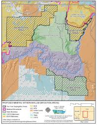 Utah Counties Map Arizona Geology Utah County Officials Want N Arizona Uranium