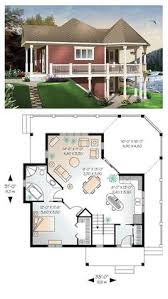 Cute Small House Plans Tiny Micro House Plan 49824 Total Living Area 613 Sq Ft 1