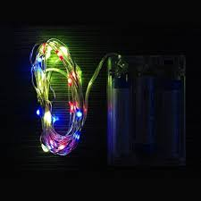 Christmas Rope Light Outdoor by Minger Indoor Outdoor Led String Light 17ft 50leds 3xaa Battery