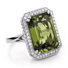 large ladies rings images Ladies 14k gold peridot quartz gemstone diamond cocktail ring 1 75ct jpg